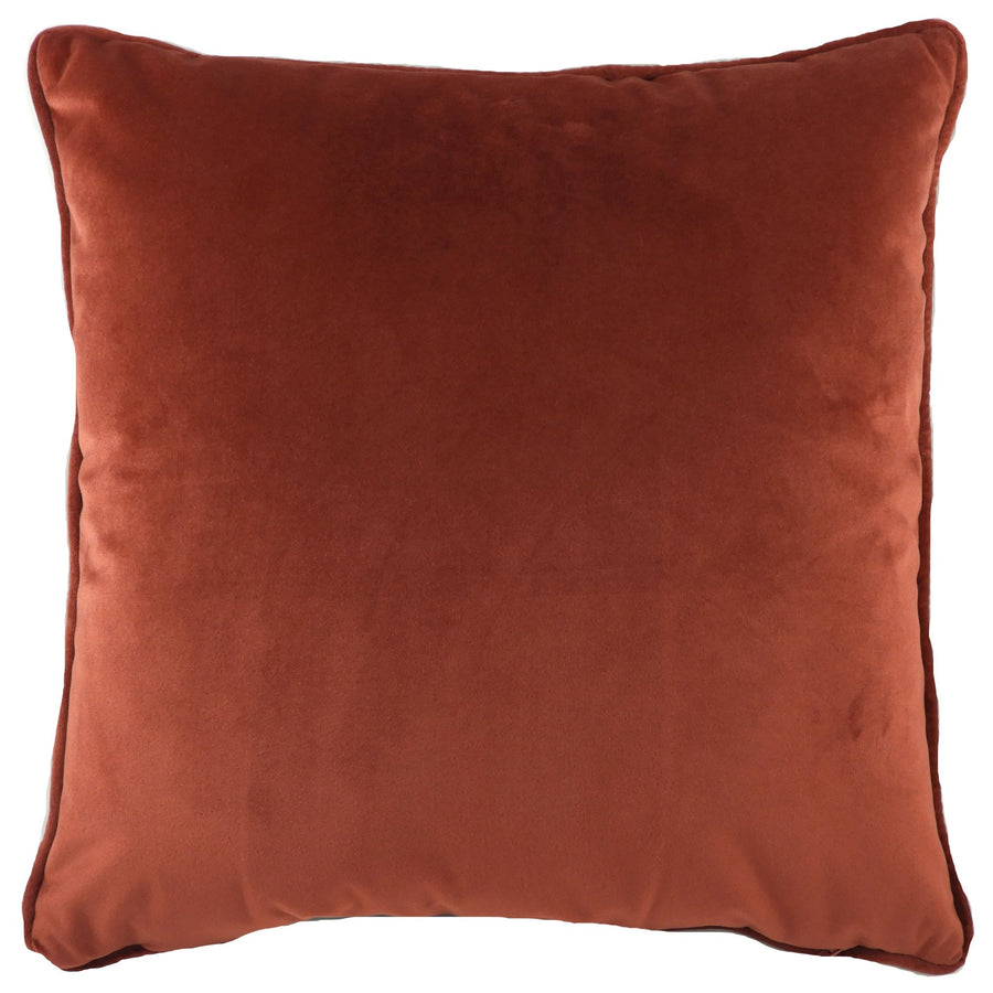 Royal Velvet Terracotta Piped Cushion