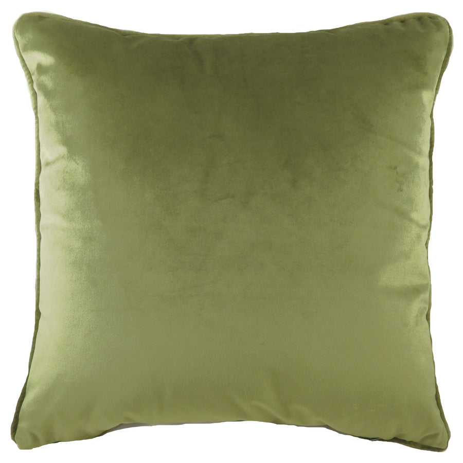 Royal Velvet Olive Piped Cushion