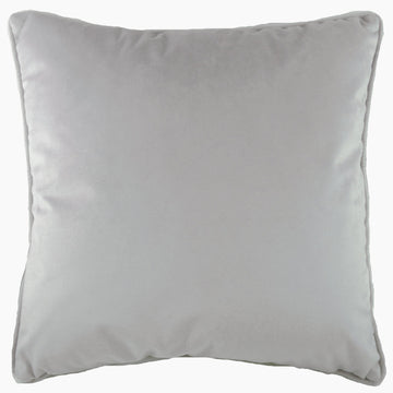 Royal Velvet Silver Piped Cushion
