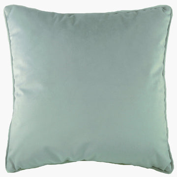 Royal Velvet Eau De Nil Piped Cushion