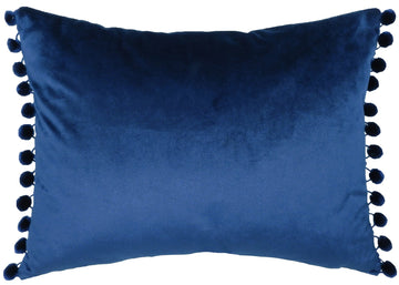 Royal Velvet Royal Pom Pom Trim Cushion