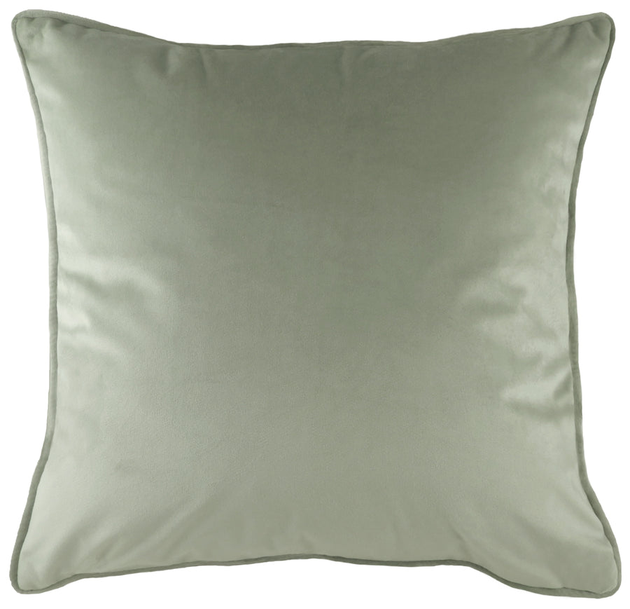 Royal Velvet Sage Piped Cushion