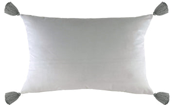 Royal Velvet Silver Tasselled Cushion