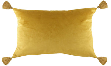 Royal Velvet Gold Tasselled Cushion