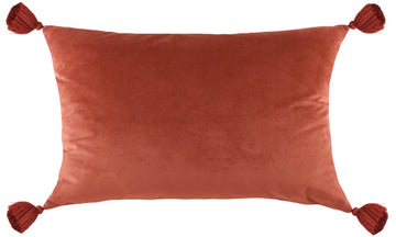 Royal Velvet Terracotta Tasselled Cushion