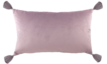 Royal Velvet Dusky Pink Tasselled Cushion