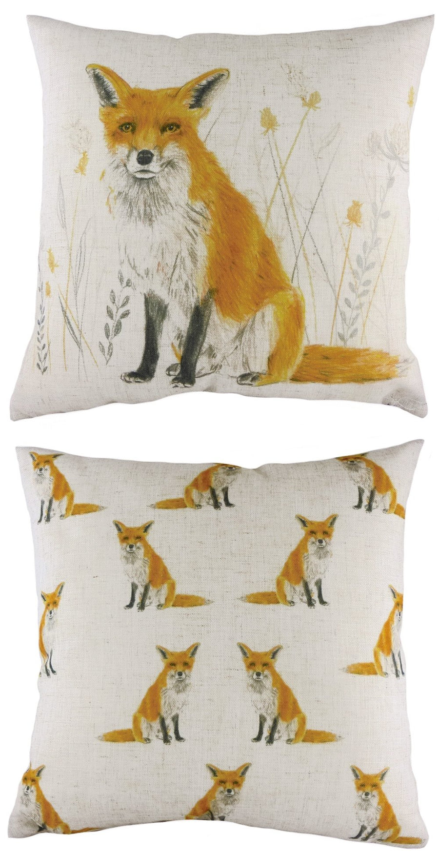 Rural Fox Repeat Cushion