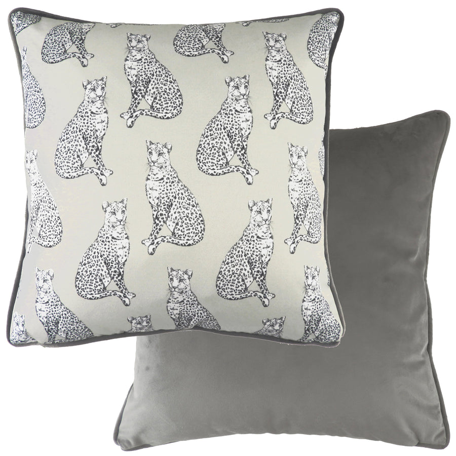 Safari Leopard Steel Piped Cushion