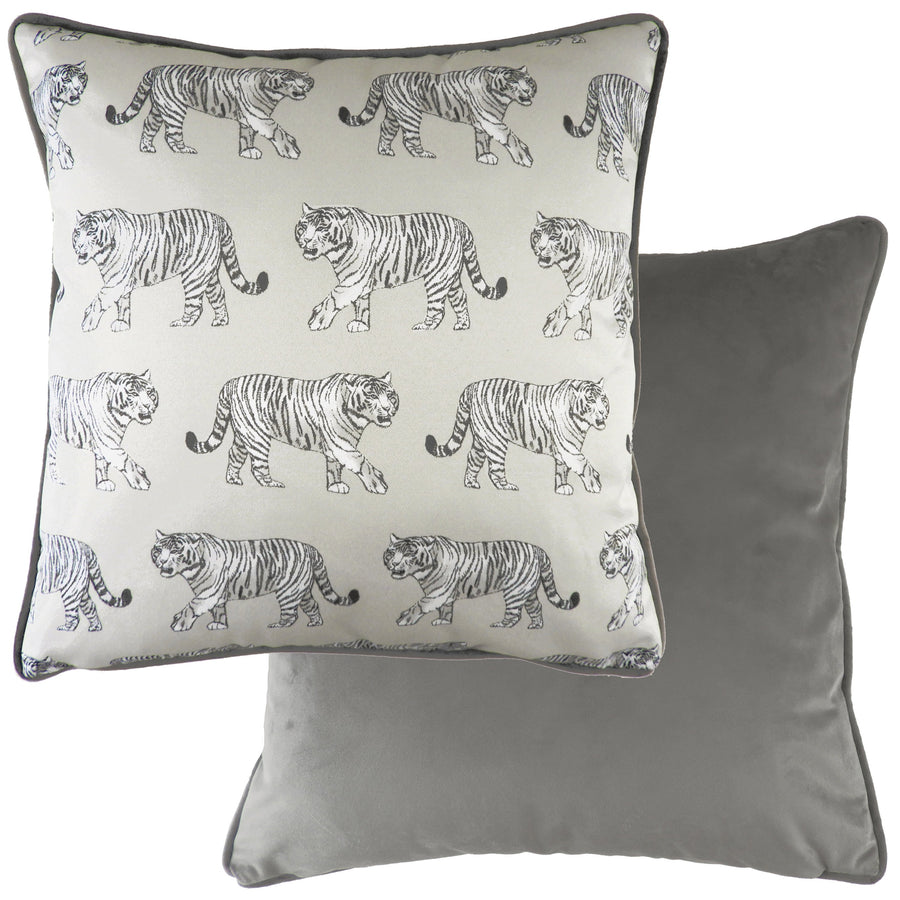 Safari Tiger Steel Piped Cushion