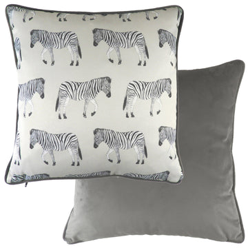 Safari Zebra Steel Piped Cushion