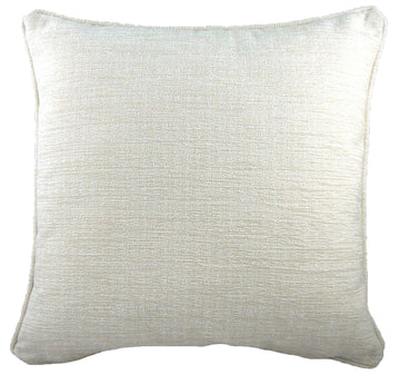 Savannah Chenille Cream Piped Cushion