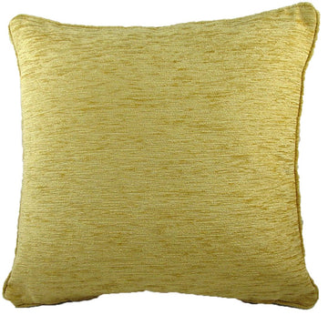 Savannah Chenille Gold Piped Cushion