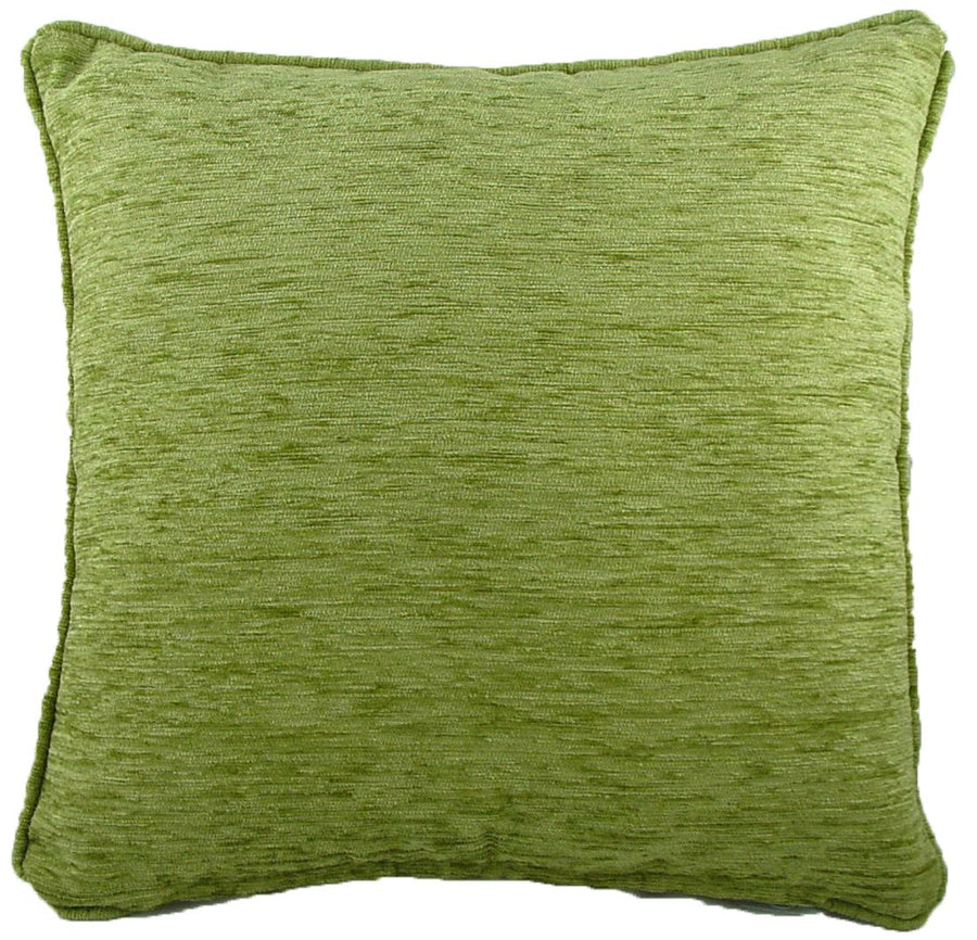 Savannah Chenille Sage Piped Cushion