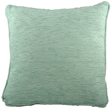 Savannah Chenille Duck Egg Piped Cushion