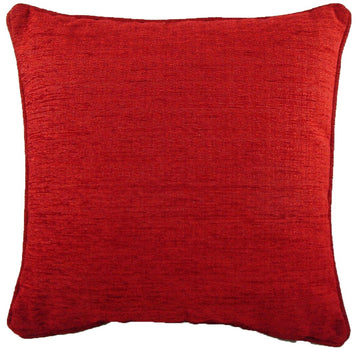 Savannah Chenille Wine Piped Cushion