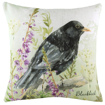 Spring Birds Blackbird Cushion