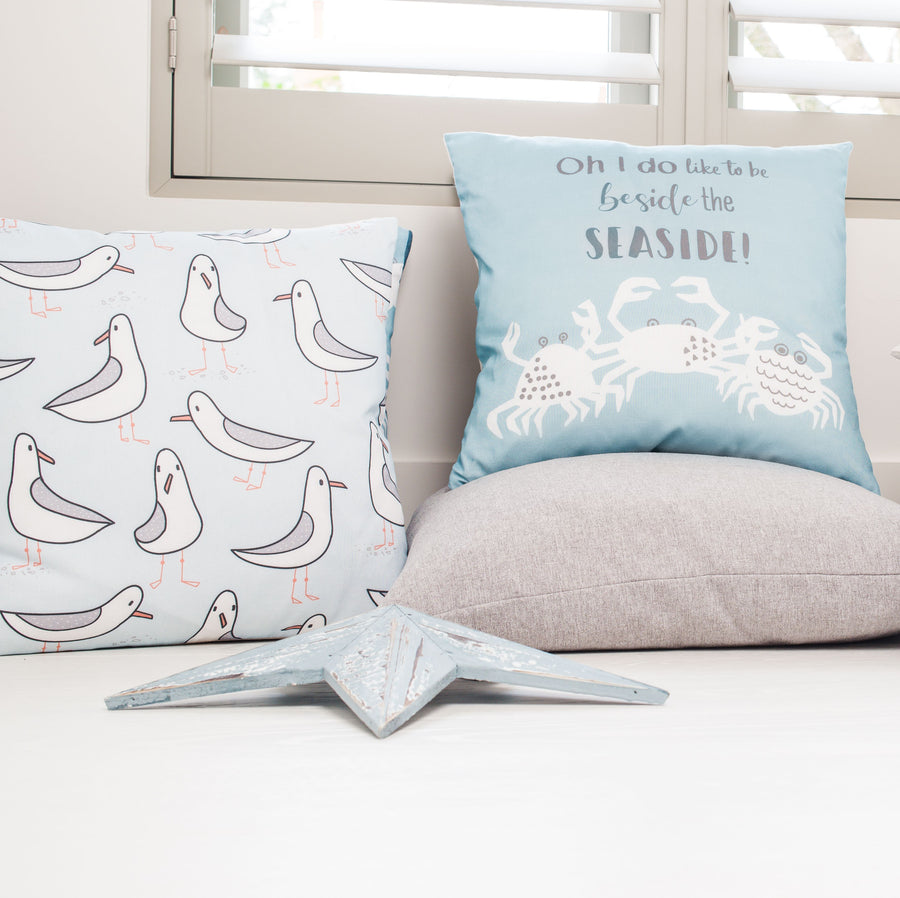Seagull Blue Repeat Cushion