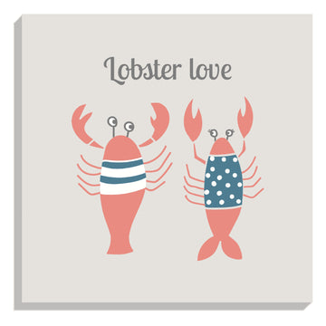 Lobster Love Canvas