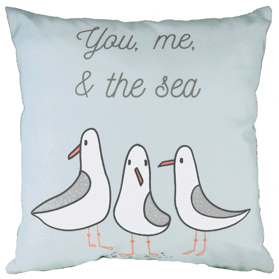 You Me Sea Blue Cushion