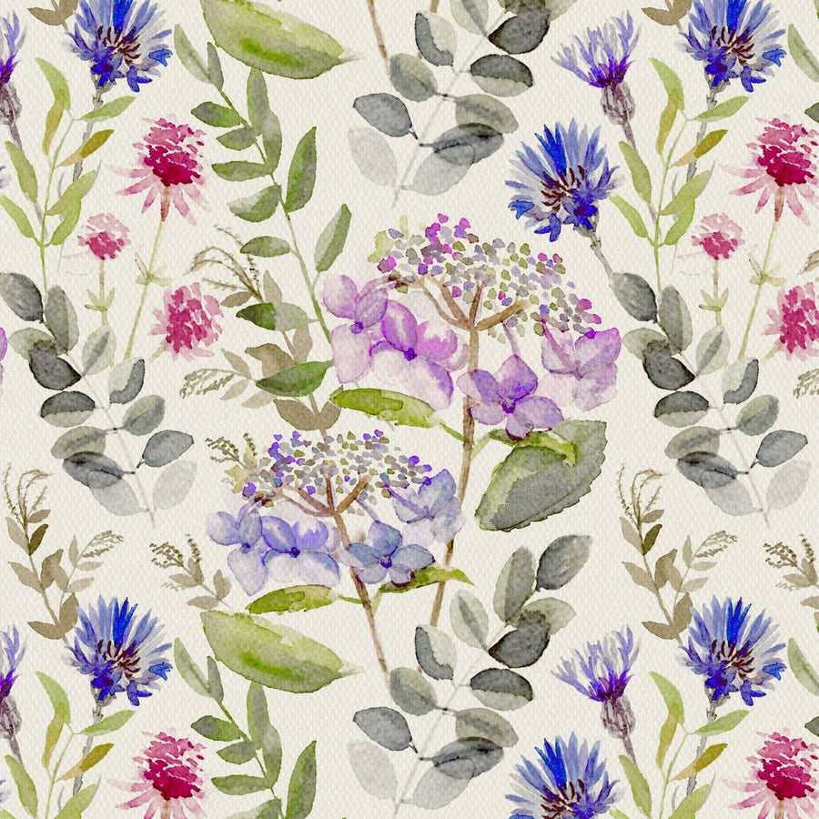 Secret Garden Cornflower Fabric - by the metre