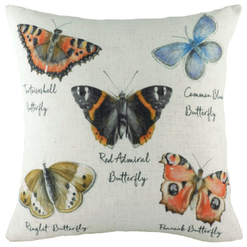 Species Butterflies Cushion