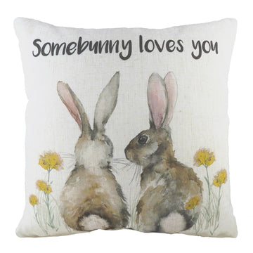 Somebunny Loves You Cushion