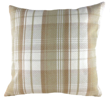 Stirling Check Natural Cushion