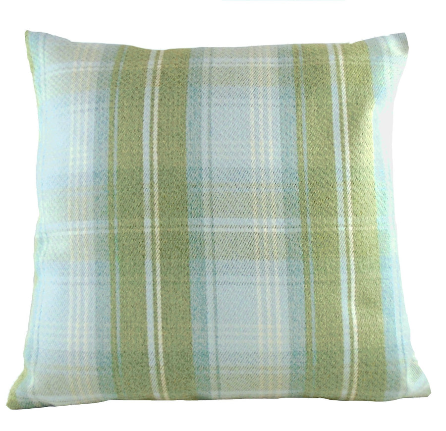 Stirling Check Sage Cushion