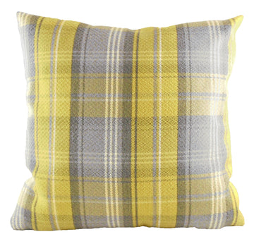 Stirling Check Yellow Cushion