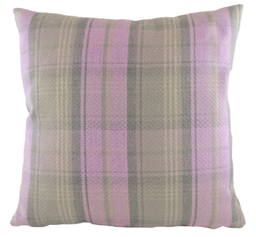 Stirling Check Lilac Cushion