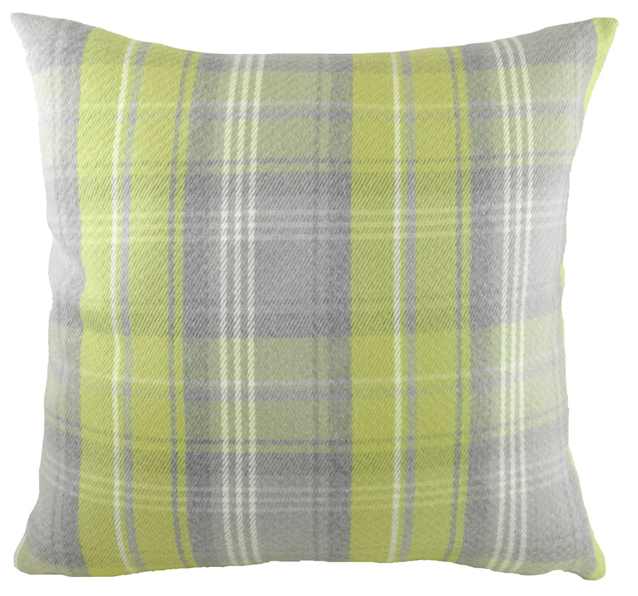 Stirling Check Green/Grey Cushion