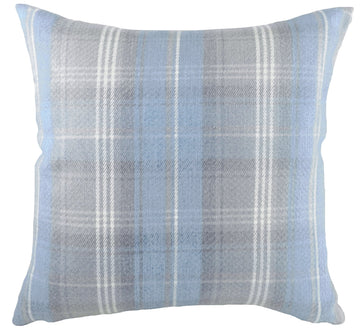 Stirling Check Blue/Grey Cushion