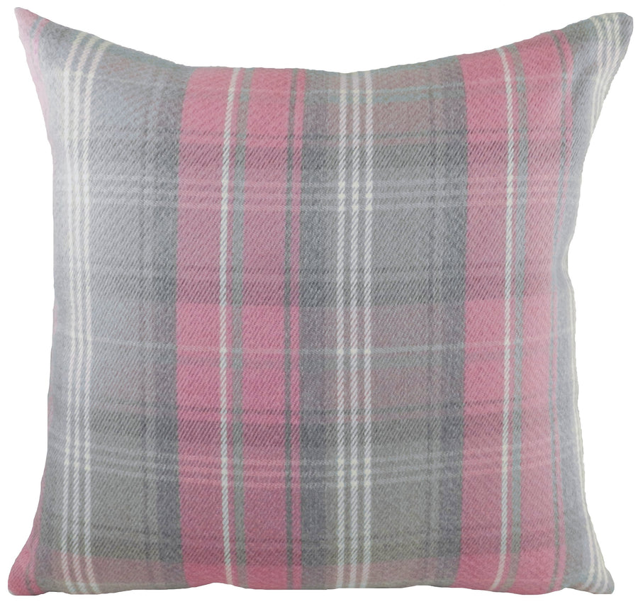Stirling Check Pink/Grey Cushion