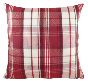 Stirling Check Red/Natural Cushion