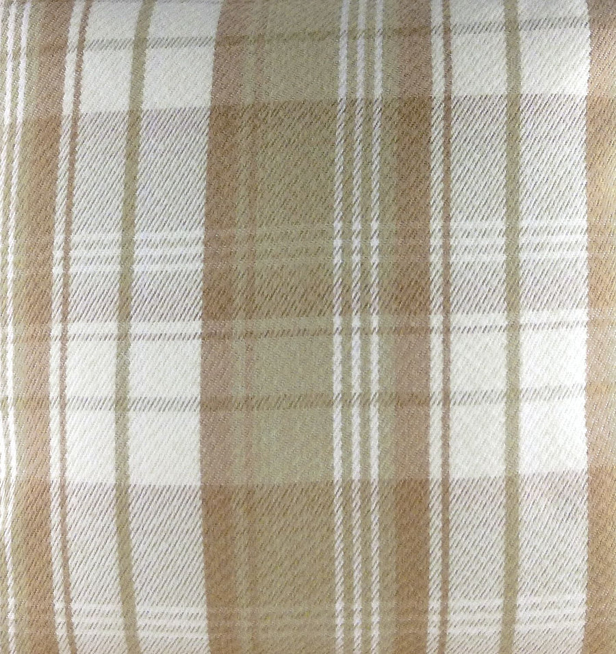 Stirling Check Natural Fabric - by the metre
