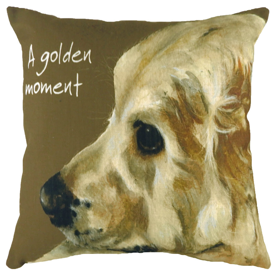 The Little Dog Laughed A Golden Moment Cushion
