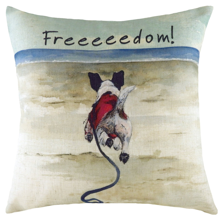 The Little Dog Laughed Freedom Cushion