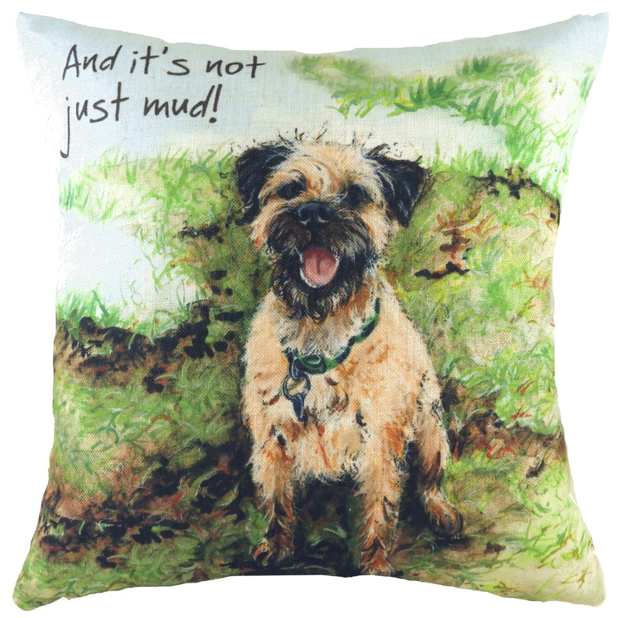 The Little Dog Laughed Mud Cushion
