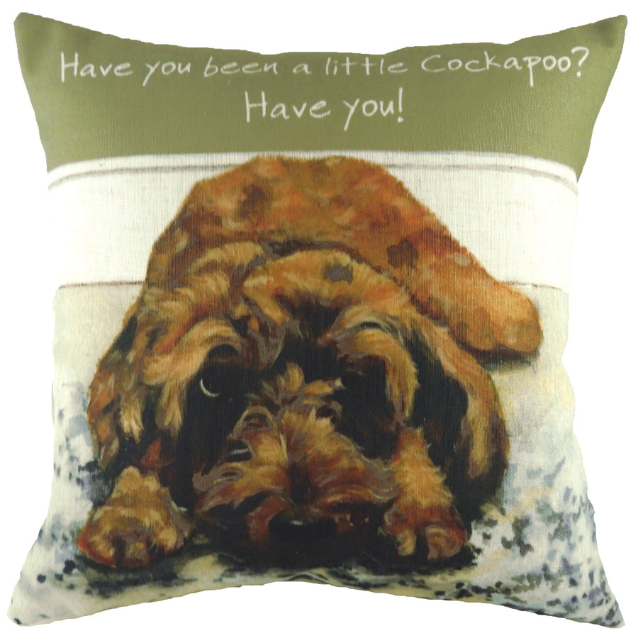 The Little Dog Laughed Little Cockapoo Cushion