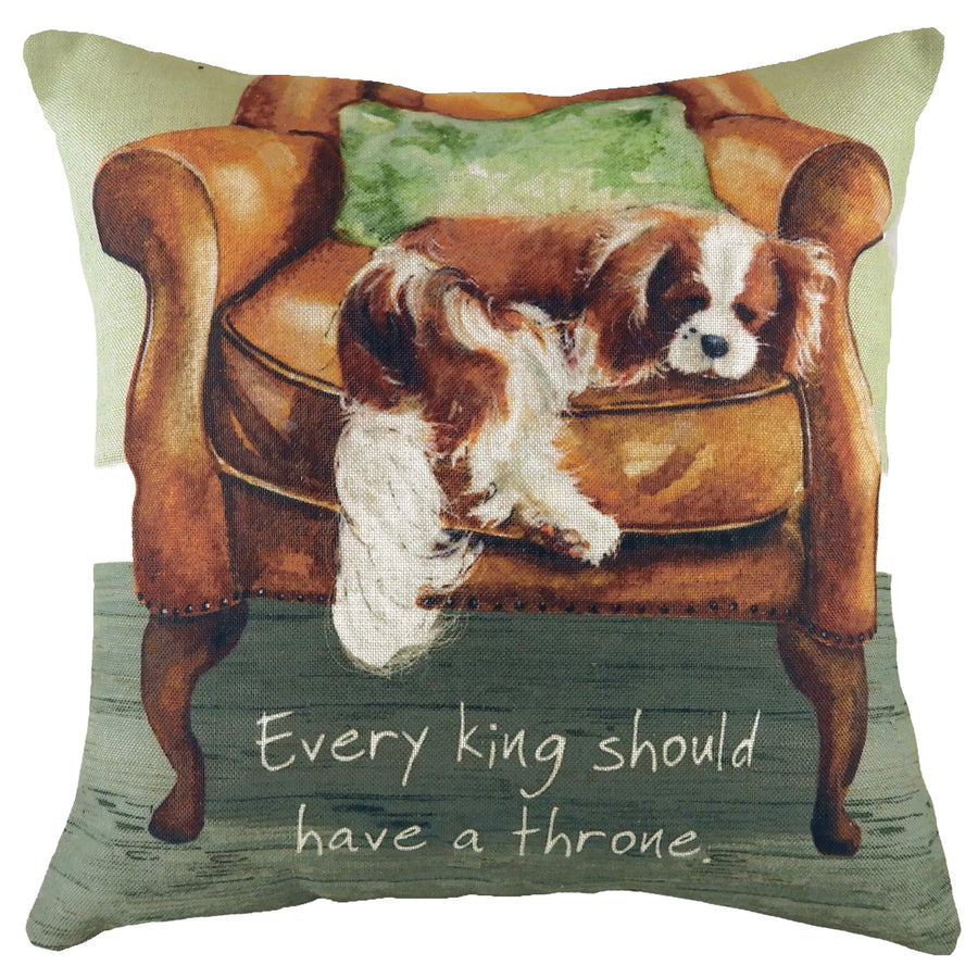 The Little Dog Laughed Every King Cushion