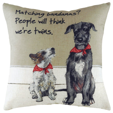 The Little Dog Laughed Twins Cushion