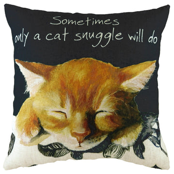 The Little Dog Laughed Cat Snuggle Cushion