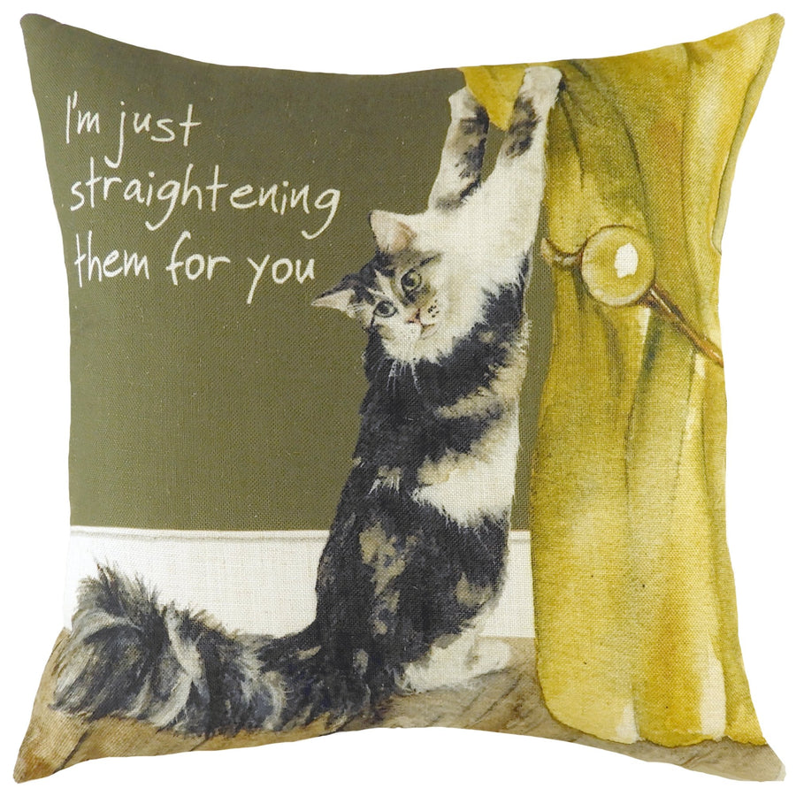 The Little Dog Laughed Cat Curtains Cushion