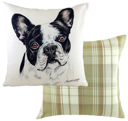 WaggyDogz French Bulldog B/w Cushion