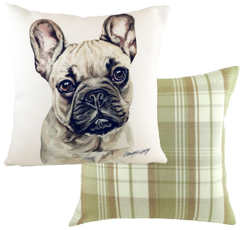 WaggyDogz French Bulldog Fawn Cushion