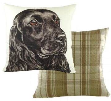 WaggyDogz Black Cocker Spaniel Cushion