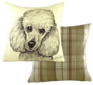 WaggyDogz White Poodle Cushion