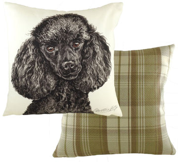 WaggyDogz Black Poodle Cushion