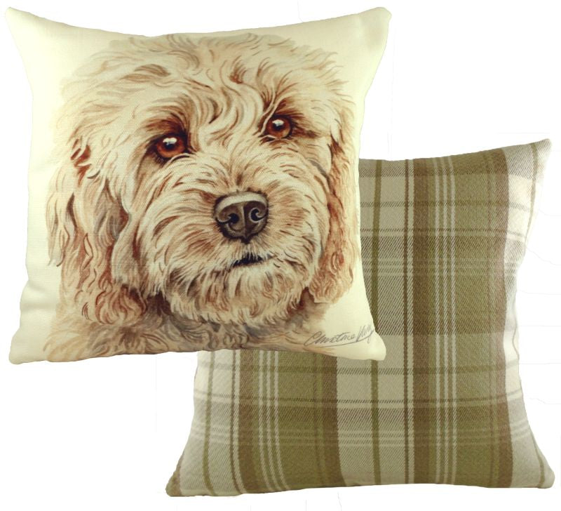 WaggyDogz Blonde Cockapoo Cushion
