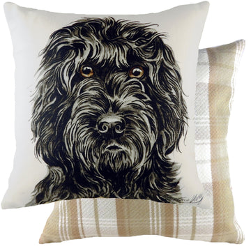 WaggyDogz Black Cockapoo Cushion